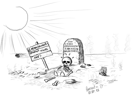 Warming, Climato-skeptic, Desert, Drawing, Sceleton