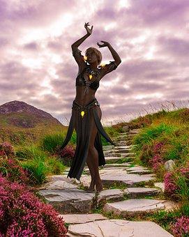 Model, Woman, Fantasy, Witch, Magic, Black Woman