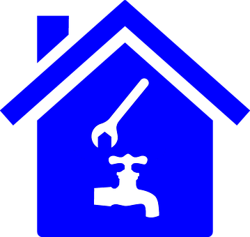 Plumber, Icon, Wrench, Faucet, Tap, House, Fix, Repair