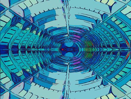 Spaceship, Tunnel, Futuristic, Fantasy, Sci-fi, Space
