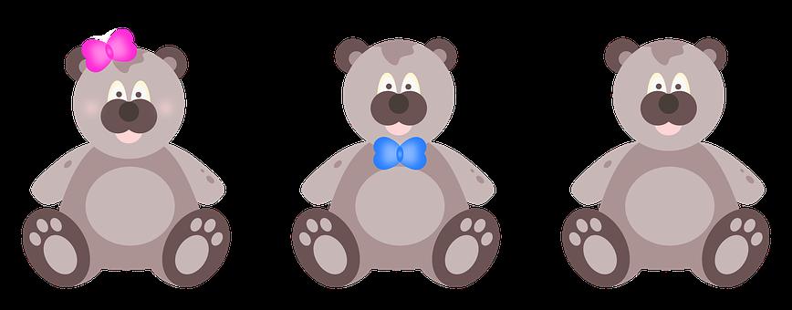 Teddies, Bear, Childish, Plush, Toy, Child, Girl, Boy
