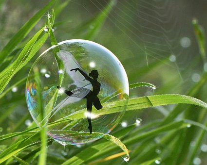Vegetation, Bubble, Fairy, Water, Nature, Forest, Green