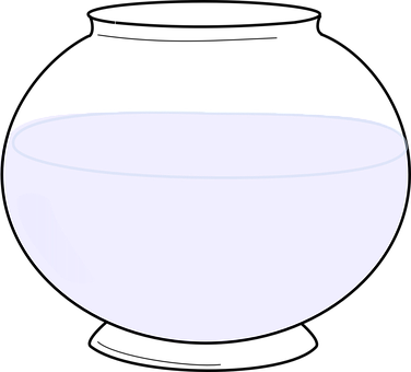Fishbowl, Empty, Water, Glass, Isolated