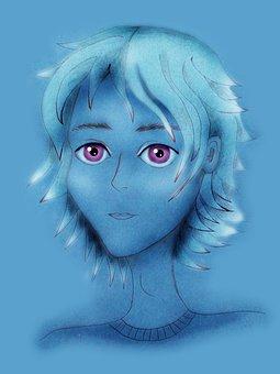 Anime, Portrait, Guy, Young Man, Figure