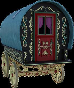 Gypsy, Wagon, Travel, Caravan, Summer, Romania