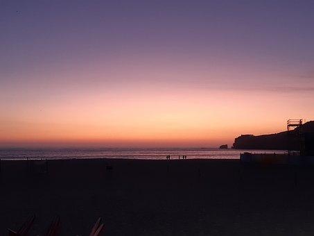 Sunset, Sea, Beach, Horizon, Summer, Sky