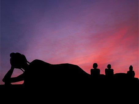 Sunset, Buddha, Layer, Travel, Asia, Sky