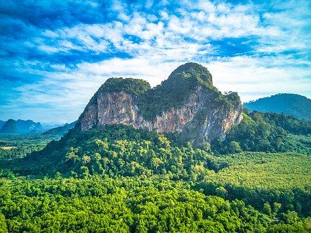 Krabi, View, Sky, Thailand, Landscape