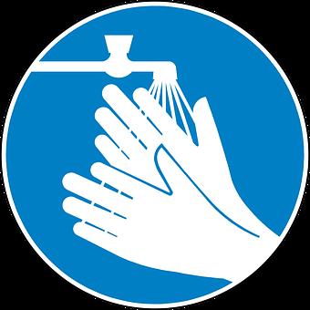 Wash Hands, Clean, Blue, Sign, Symbol, Icon, Blue Clean
