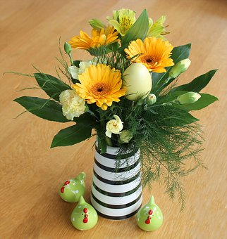 Easter, Flowers, Yellow, Decoration, Bouquet