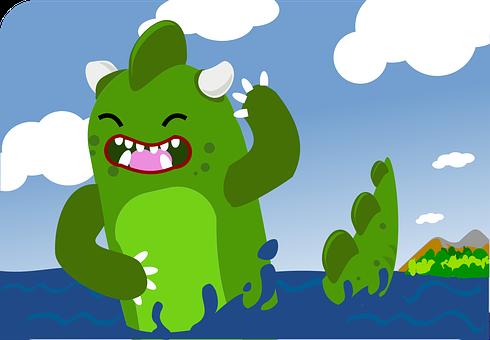 Godzilla, Splashing Around, Dragon, Dino