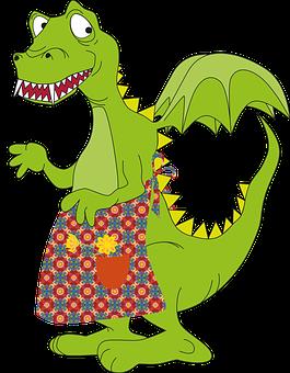 Dinosaur, Green, Reptile, Males