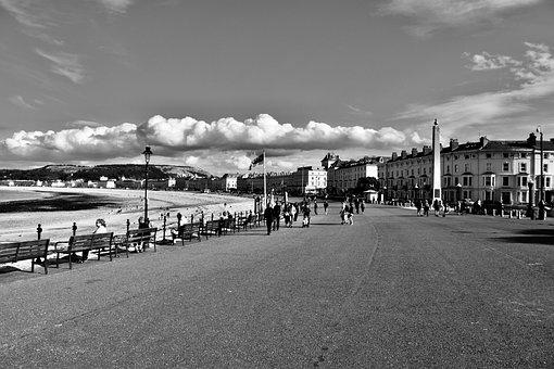 Llandudno, Promenade, Wales, Seascape, Architecture