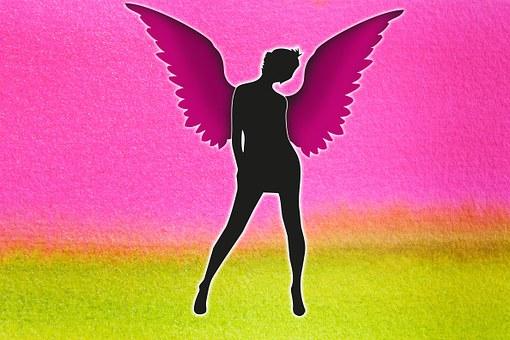 Sexy, Angel, Woman, Wing, Mini Skirt