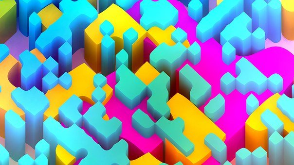 Abstract, Background, Wallpaper, Render, Color