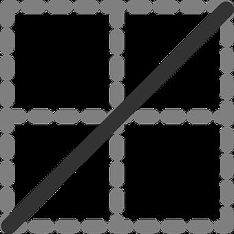 Diagonal, Line, Table, Digital, Squares, Dots, Outline
