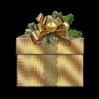 Christmas, Box, Graphics, Creative, Bows, Transparent