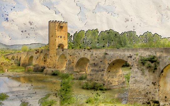 Landscape, Outdoor, Scenic, View, Structure, Bridge