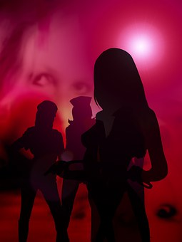 Woman, Women, Sexy, Shadow, Red Light