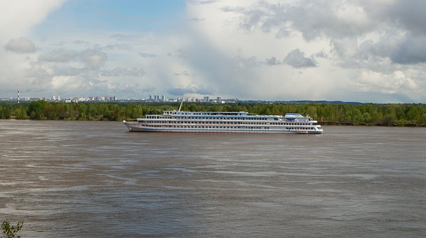 Ship, Steamer, River, Water, Tourism