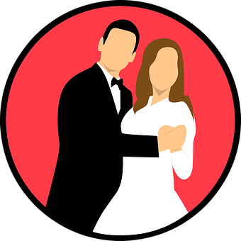 Wedding, Married, Icon, Couple, Bride