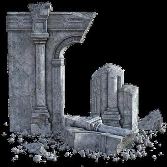 Ruins, Wall, Stone, Ruin, Old, Building, Fallen