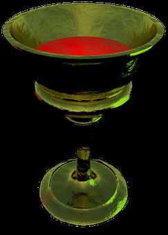 Chalice, Goblet, Grail, Cup, Wine, Metal, Gold, Vessel