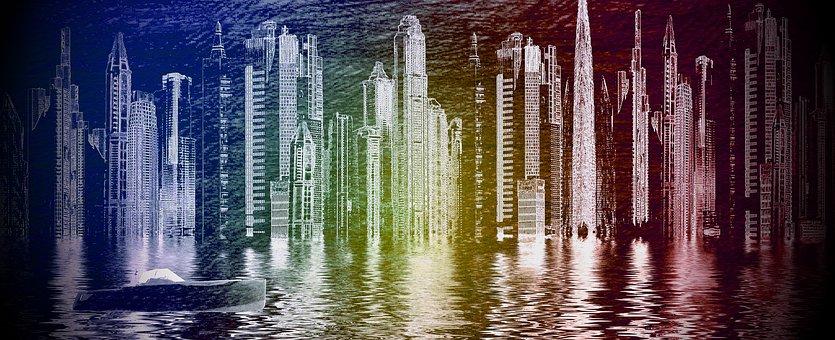 City, Metropolis Of Gotham City, Superhero, Batman