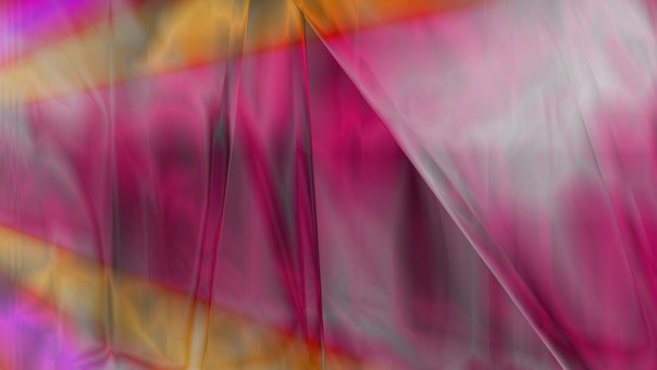 Glass, Glow, Pink, Fabric, Amazing, Design, Decorative