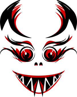 Monster, Evil, Devil, Demon, Eyes, Teeth, Fangs, Red
