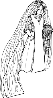 Girl, Wedding Gown, Doll, Wedding, Gown