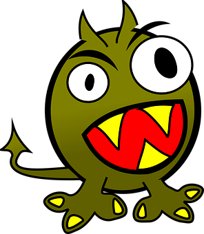 Monster, Demon, Devil, Evil, Cartoon, Head, Face, Eyes