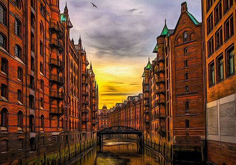 Hamburg Speicherstadt, Warehouses, Speicherstadt