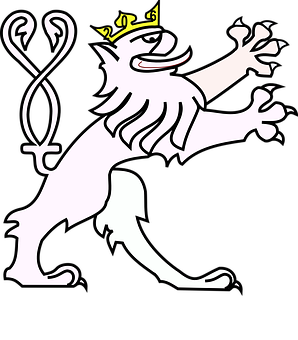 Lion, Coat Of Arms, Crown, Double-Tailed