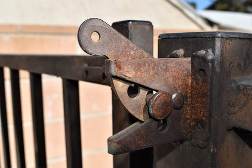 Latch, Gate, Metal, Lock, Rusty