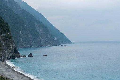 Hualian, Beach, Taiwan, Hualien, Sea