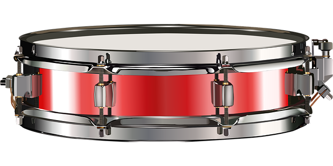 Small Drum, Snare Drum, Red, Drum, Drums