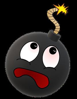 Smiley, Bomb, Bomb Explosion, Explosion Danger