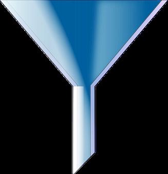 Funnel, Blue, Flow, Cone, Liquid, Fluid, Tunnel