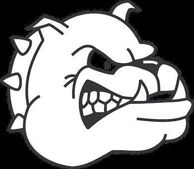 Dog, Head, Angry, Bulldog, Fangs, Growling, Spiked