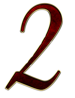 Number, 2, Two, Digit, Background, Scrapbooking
