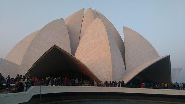 Louts Temple In New Delhi, Delhi, India, Architecture