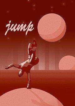 Frieze, Brakedance, Jump, Planet, Mars, Poster, Posture
