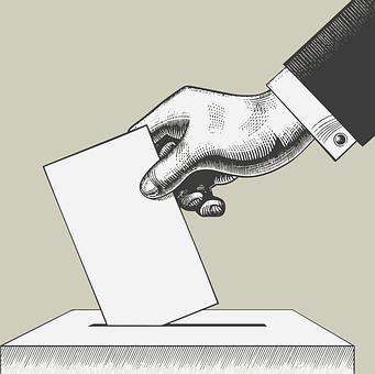 Vote, Ballot Box, Hand, Suit