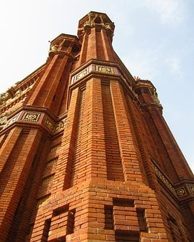 Arc, Triumph, Barcelona, Wall, Bricks, Spain, Facade