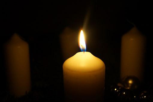 Advent Wreath, Advent, Candle, First Candle, Light