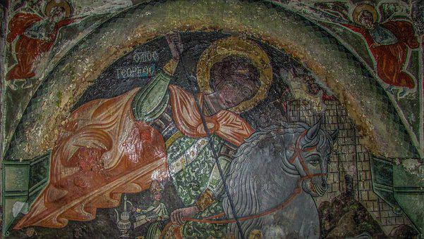 Ayios Georgios, Iconography, Byzantine, Wall Painting