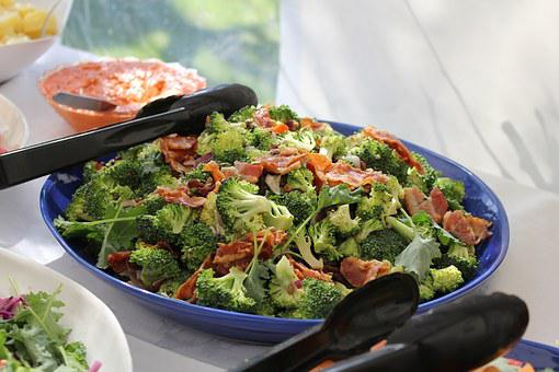 Salad, Lettuce, Broccoli, Bacon, Dalad, Green, Food