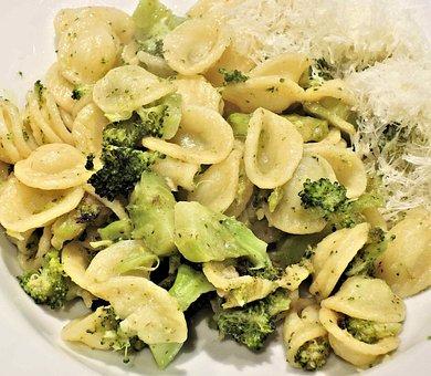Pasta, Orecchiette, Broccoli, Anchovies, Parmesan, Food