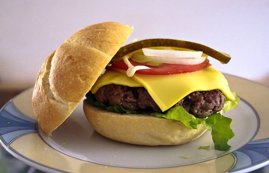 Burger, Bun, Kaiser, Meat, Hamburger, Cheese, Tomato